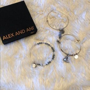 Alex and Ani Bracelet set